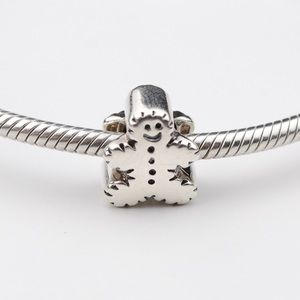 Chamilia Sterling Silver Gingerbread Man Charm